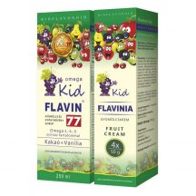 Flavin77 Omega Kid szirup 250ml+Flavinia Kid gyümölcskrém 4x50g (green)