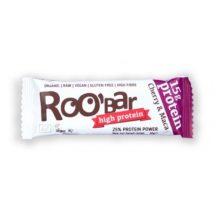 Roobar 100% raw bio high protein szelet cseresznye maca por 60 g