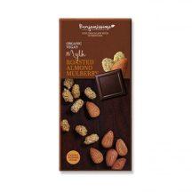 Benjamissimio bio vegán kókuszos csokoládé pörkölt mandulával és fehér eperrel 70 g
