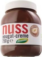 Dennree bio családi mogyorós nugátkrém 750 g