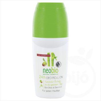 Neobio golyós dezodor 24h bio olíva- és bambusz 50 ml