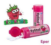 Xylitol kids gyermek rágógumi eper íz 30 db