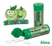 Xylitol kids gyermek rágógumi alma íz 30 db