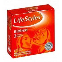 Lifestyle óvszer ribbed narancs 3 db