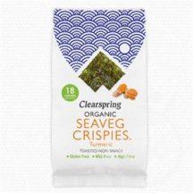 Clearspring bio ropogós tengeri alga snack kurkumás 4 g