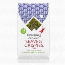 Clearspring bio ropogós tengeri alga snack chilis 4 g