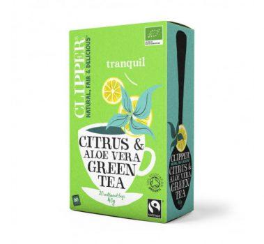 Clipper bio fairtrade citrus & aloe vera zöld tea 40 g