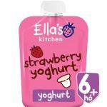 Ellas Kitchen görögjoghurt szamóca bio bébiétel 90 g