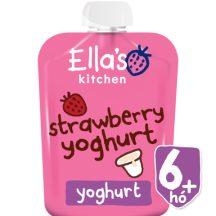 Ellas Kitchen bio görögjoghurt szamóca bébiétel 90 g