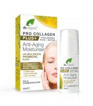dr.Organic Pro Collagen Anti-Aging hidratáló arckrém tejprotein probiotikummal 50ml