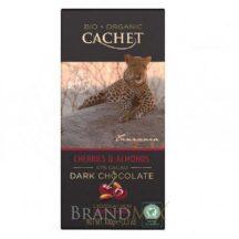 Cachet bio táblás étcsokoládé 57% mandula-cseresznye 100 g