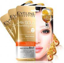 Eveline koreai textil arcmaszk bőrfiatalító 24k arannyal 1 db