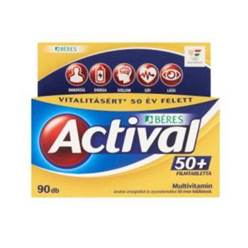 BÉRES ACTIVAL 50+ FILMTABLETTA 90DB 90 db