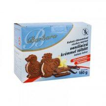 Barbara gluténmentes kakaós keksz vanília tölt. étbevonatos 180 g