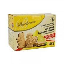 Barbara gluténmentes vaníliás keksz citrom tölt. étbevonatos 180 g