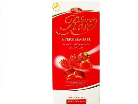 Sweetrose tejcsokoládé eperkrémmel töltött,fruktózzal 100 g