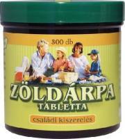 Zöldvér zöldárpa tabletta 100% 300 db