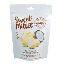 Biopont bio sweet millet fehércsokoládés kókuszos extrudált köles, gluténmentes 55 g