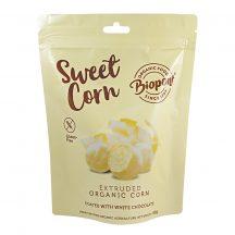 Biopont bio sweet corn fehércsokoládéval bevont extrudált kukorica, gluténmentes 60 g