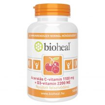 Bioheal acerolás c-vitamin 1100mg+d3 vitamin 2200ne 105 db