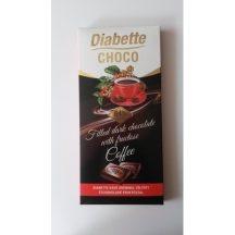 Diabette töltött étcsokoládé kávé 80 g