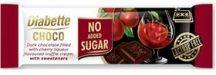 Diabette nas laktózmentes konyakmeggyes trüffelkrémmel töltött étcsokoládé édesítőszerrel, eritrittel 25 g