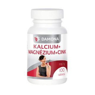DAMONA KALCIUM+MAGNÉZIUM+CINK TABLETTA 100 db