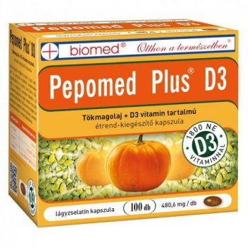 BIOMED PEPOMED PLUS D3 KAPSZULA 100 db