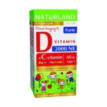 Naturland prémium d3-vitamin forte rágótabletta gyermekekne 60 db