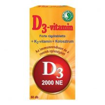 Dr. Chen D3-vitamin Forte ( D-vitamin rágótabletta ) 60 db