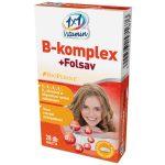 1X1 VITAMIN B-KOMPLEX+FOLSAV TABLETTA 28 db