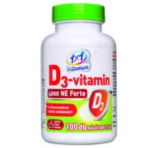 1x1 vitamin D3-vitamin 4000IU rágótabletta 100 db