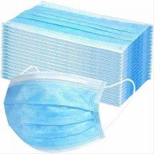 3 rétegű egészségügyi maszk fülpánttal 50db