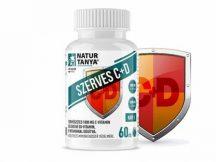 Natur Tanya® Szerves C+D vitamin tabletta - 1000mg C- és 2000IU D-vitamin, 10mg E-vitaminnal dúsítva.