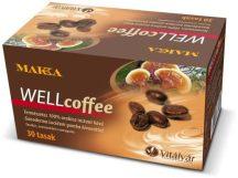 Vitálvár makka wellcoffee instant kávé ganoderma kivonattal 30 db