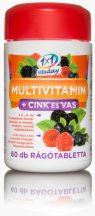 1x1 vitaday multivitamin+cink+vas rágótabletta 60 db