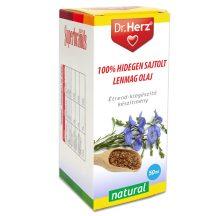 Dr.herz lenmag olaj 100% hidegen sajtolt 50 ml