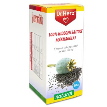 Dr.herz mákmagolaj 100% hidegen sajtolt 50 ml