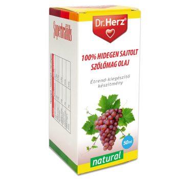 Dr.herz szőlőmag olaj 100% hidegen sajtolt 50 ml