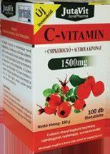 Jutavit c-vitamin 1500 mg+d3+cink+csipkebogyó+acerola kivonattal 100 db