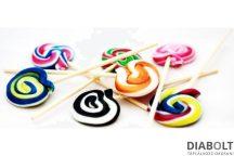 Caring candies nyolc csiga cukormentes nyalóka 8 db