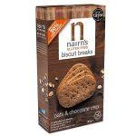 Nairns gluténmentes teljeskiőrlésű 56% rostdús zabkeksz csoki chips 160 g
