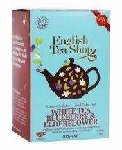 Ets 20 bio fehér tea áfonyás és bodzás 20x1.5g 30 g