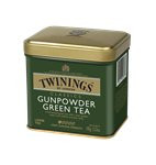 TWININGS GUNPOWDER ZÖLD TEA FÉMDOBOZOS