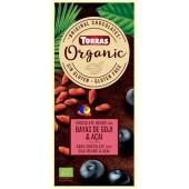 Torras gluténmentes étcsokoládé goji bogyóval és acai porral 100 g