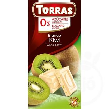 Torras gluténmentes kiwis fehércsokoládé hozzáadott cukor né 75 g