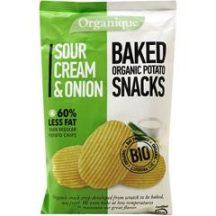 Organique bio burgonyás snack tejfölös-hagymás 85 g