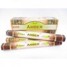 Füstölő tulasi hatszög amber 20 db